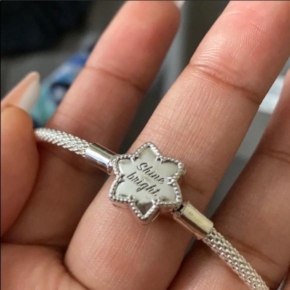 NWOT Pandora Shine Bright Mesh Cable Bracelet
